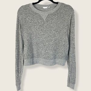 Urban Outfitters Gray Pullover Cropped Sweater